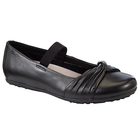 Buy Clarks No Twist Shoes, Black Online at johnlewis.com