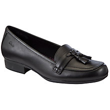 Buy Clarks Oriel Pine Shoes, Black Online at johnlewis.com