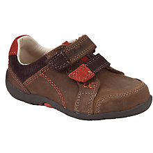 Buy Clarks Softly to Fst Combi Leather Shoes, Brown Online at johnlewis.com