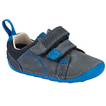 Buy Clarks Tiny Soft Shoes, Blue Online at johnlewis.com