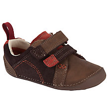 Buy Clarks Tiny Soft Shoes, Brown Online at johnlewis.com