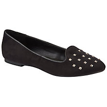 Buy John Lewis Girl Alexa Stud Slipper Shoes, Black Online at johnlewis.com