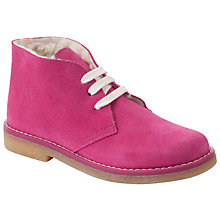 Buy John Lewis Girl Eva Desert Boot, Pink Online at johnlewis.com