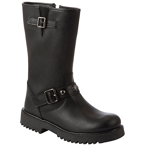 Buy John Lewis Girl Donna Biker Boot, Black Online at johnlewis.com
