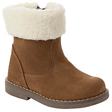 Buy John Lewis Girl Frida Mini Shearling Boots, Brown Online at johnlewis.com