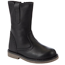 Buy John Lewis Girl Isobel Boots, Black Online at johnlewis.com