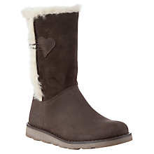Buy John Lewis Laura Shearling Boots, Brown Online at johnlewis.com