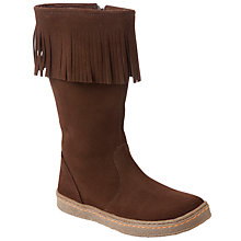 Buy John Lewis Girl Nancy Fringe Boots, Brown Online at johnlewis.com