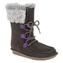 Buy Clarks Snuggle Wall Boots, Grey Online at johnlewis.com