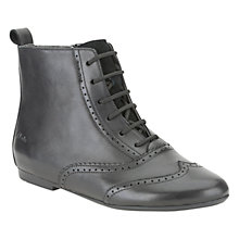 Buy Clarks Erica Alice Boots, Black Online at johnlewis.com