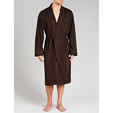 Buy Hugo Boss Kimono Robe, Brown Online at johnlewis.com