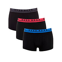 Buy Hugo Boss Coloured Waist Trunks, Pack of 3, Red/Blue/Grey Online at johnlewis.com