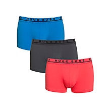 Buy BOSS Stretch Cotton Trunks, Pack of 3, Red/Blue/Black Online at johnlewis.com