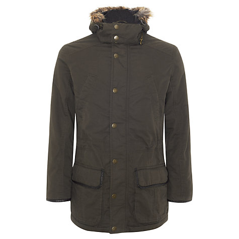 Buy John Lewis Fur Hood Parka Jacket, Dark Brown Online at johnlewis.com
