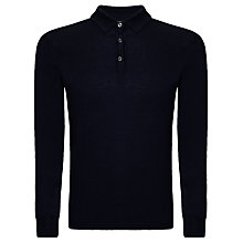 Buy John Lewis Made in Italy Merino Long Sleeve Polo Online at johnlewis.com