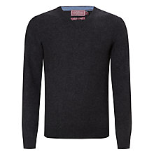 Buy John Lewis Made in Italy Cashmere V-Neck Jumper, Charcoal Online at johnlewis.com