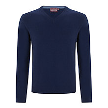 Buy John Lewis Made in Italy Cashmere V-Neck Jumper, Navy Online at johnlewis.com