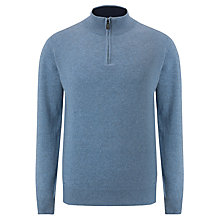 Buy John Lewis Made in Italy 1/4 Zip Cashmere Jumper Online at johnlewis.com