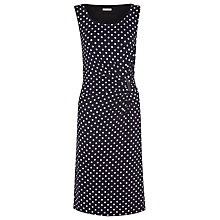 Buy Precis Petite Spot Print Jersey Dress, Navy Online at johnlewis.com