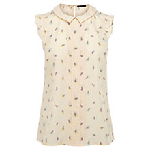 Buy Oasis Cat Spot Print Shell Top Online at johnlewis.com