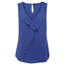 Buy Oasis Minimal Drape Vest Top, Rich Blue Online at johnlewis.com