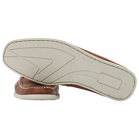 Buy Dune Barracuda Square Toe Leather Boat Shoes Online at johnlewis.com