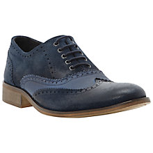 Buy Dune Baker Boy Brogue Leather and Canvas Oxford Shoes Online at johnlewis.com