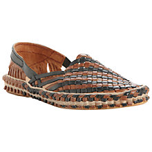Buy Dune Greece Leather Woven Sandals Online at johnlewis.com