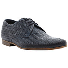Buy Dune Bric Brac Textured Leather Derby Shoes Online at johnlewis.com