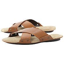 Buy Dune Infamous Leather Cross Strap Sandals Online at johnlewis.com