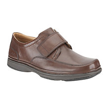 Buy Clarks Swift Turn Velcro Strap Shoes, Walnut Online at johnlewis.com