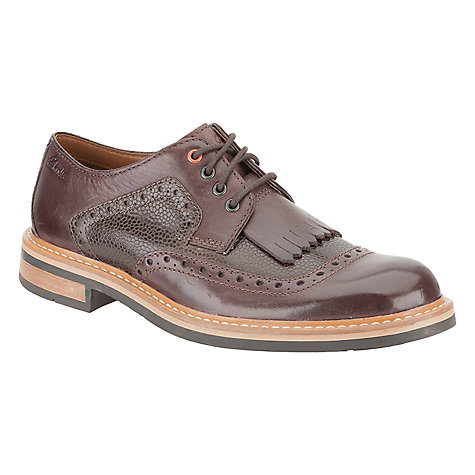 Buy Clarks Darby Desert Combi Leather Shoes Online at johnlewis.com