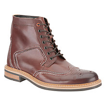 Buy Clarks Darby Top Leather Brogue Boots Online at johnlewis.com