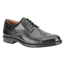 Buy Clarks Dorset Limit Leather Brogue Derby Shoes, Black Online at johnlewis.com