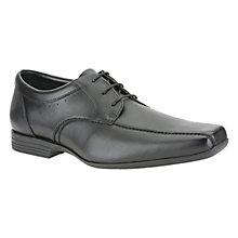 Buy Clarks Forbes Over Leather Derby Shoes, Black Online at johnlewis.com