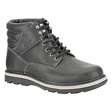 Buy Clarks Malvern Ridge Leather Boots Online at johnlewis.com
