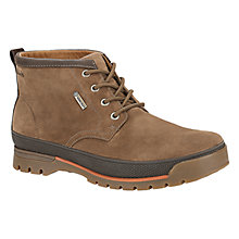 Buy Clarks Narly Hill GTX Nubuck Boots, Dark Brown Online at johnlewis.com