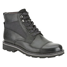 Buy Clarks Naylor Limit Leather Lace Up Boots, Black Online at johnlewis.com