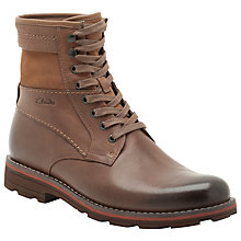 Buy Clarks Naylor Top Leather Lace Up Boots, Tan Online at johnlewis.com