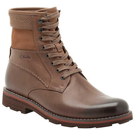 Buy Clarks Naylor Top Leather Lace Up Boots Online at johnlewis.com