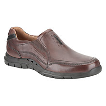 Buy Clarks UN Venton Leather Slip On Shoes Online at johnlewis.com