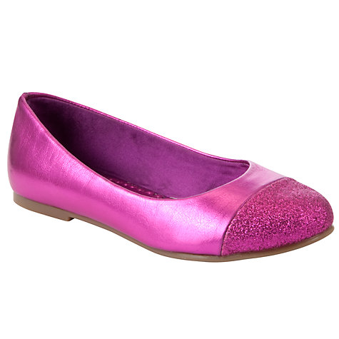Buy John Lewis Girl Alice Glitter Toe Cap Pumps Online at johnlewis.com