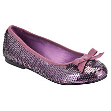 Buy John Lewis Girl Daisy Sequin Shoes, Purple Online at johnlewis.com