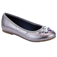Buy John Lewis Girl Grace Jewelled Shoes, Silver Online at johnlewis.com