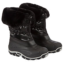 Buy John Lewis Girl Zip Snow Boots, Black Online at johnlewis.com