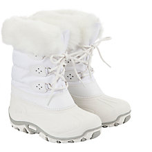 Buy John Lewis Girl Fur Effect Snow Boots, White Online at johnlewis.com