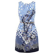 Buy Oasis Cloud Kimono Dress, Multi Blue Online at johnlewis.com