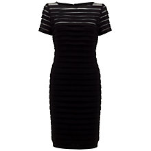 Buy Adrianna Papell Partial Tuck Short Sleeved Dress, Black Online at johnlewis.com