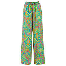 Buy Lauren by Ralph Lauren Wide Printed Trousers, Green Multi Online at johnlewis.com