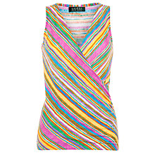 Buy Lauren by Ralph Lauren Faux Wrap Top, Multi Online at johnlewis.com